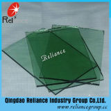 verde oscuro verde oscuro del vidrio de flotador de 4mm-12m m teñida de cristal/color verde oscuro de cristal