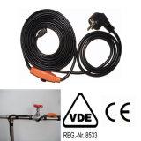 cable térmico del tubo de agua 384W para los tubos congelados