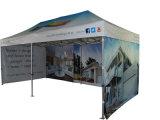 piegare su ordine impermeabile di pubblicità di colori di 3X6m schiocca in su la tenda