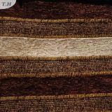 Tissu 100% de Chenille horizontal de polyester de configuration de la bande 2016 pour le tissu de sofa (FTH31002C)