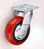 6 인치 PU 피마자 비계를 위한 고무 피마자 바퀴