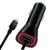 Chargeur de voiture USB 2.1A avec câble 2m pour iPhone 5 / 5s / 6 / 6s