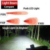 20W 깍지 LED 일 빛 (3inch 의 확산한 플러드, IP68는 방수 처리한다)