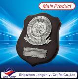 Trofeo di legno della medaglia a base di legno di piastra metallica del medaglione della parte superiore dell'oro