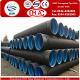 Tubulação ondulada do HDPE do diâmetro 50-800mm com paredes dobro