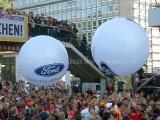 La publicité du ballon fait sur commande d'hélium de forme, zeppelin gonflable d'hélium, ballon gonflable d'hélium du rond DEL