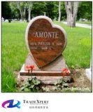 강직한 사랑 화강암 묘비에 묘지