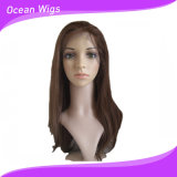 Hairline naturel Virgin Glueless brésilien Full Lace Wigs Human Hair Front Lace Straight Natural Color avec Baby Hair (HW-044)