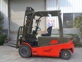 フォークリフトのゴム車輪が付いている4-Wheel電気フォークリフト(TK)