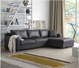 Più nuova L moderna sofà del cuoio di figura per uso della Camera (SF021)