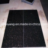Interior & Exterior Decoration (YQA-GT1018)를 위한 까만 Star Galaxy Stone Tile