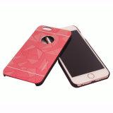 金属はiPhoneのケースのための1つのPC+Metalの携帯電話の箱に付き2つにブラシをかけた