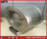 Klep van de Controle van de Lift van de Plaat van het Type van wafeltje de Enige (H71)