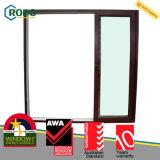 Constructeur en plastique en bois de porte en verre de glissement de la couleur UPVC/PVC