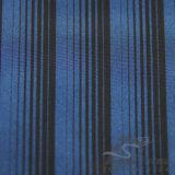 água de 50d 290t & da forma do revestimento do poliéster listrado do jacquard para baixo revestimento Vento-Resistente tela 100% Cationic tecida do filamento do fio (X026)