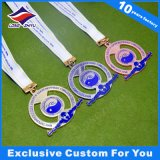 Ahuecar hacia fuera las medallas de la medalla de bronce de la plata del oro de la natación de la concesión 3D/2D