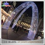 Luz ao ar livre do feriado do diodo emissor de luz do arco do Natal da decoração da rua