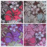 600d Oxford grosses Blumen-Drucken-Polyester-Gewebe mit Kurbelgehäuse-Belüftung