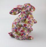 زخرفة أرنب خزفيّة [أم] يشبع طباعة قيثار بنك
