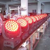 Luz de la etapa 36X18W RGBWA UV 6in1 DMX que mueve la cabeza LED