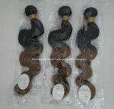 Волосы Ombre способа выдвижения человеческих волос перуанские естественные прямые