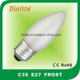 C35 Ba15Dの霜の蝋燭の白熱球根