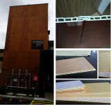 Panneau mural / revêtement mural / panneau mural en PVC / plancher en PVC laminé Anti-UV WPC