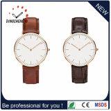 Personalizado Slim Quartz Couple Lover Watch / Stainless Steel Back Unisex Wrist Watch