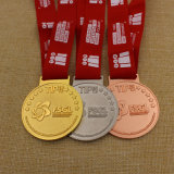 Medalha Polished elevada do funcionamento da maratona dos esportes do karaté da concessão da escola do metal do medalhão