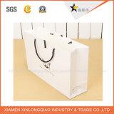 Bolsas de papel blancas de encargo del precio de fábrica de la alta calidad