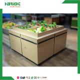 Bewegliche hölzerne Frucht-Gemüse-Bildschirmanzeige-Zahnstange für Markt