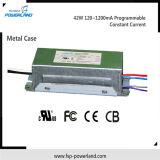 Wasserdichte programmierbare konstante Stromversorgung 42W 120~1200mA des Bargeld-LED