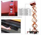 El mecanismo impulsor hidráulico Scissor la plataforma de trabajo aéreo de la elevación