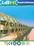 Selbstd &R gebogene Gummiförderband-Langstreckenförderwerke