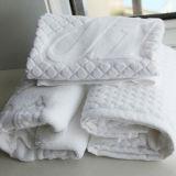 Tapis de bain 100% de salle de bains d'hôtel d'étage de jacquard de coton