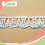 Вышивка ткани гипюра фабрики дешевая конструирует шнурок химиката цветка