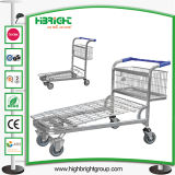 500kg Warehouse Storage Shopping Trolley Cart
