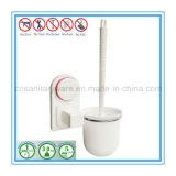Supporto di spazzola di plastica accessorio della toletta dell'insieme di spazzola della toletta di pulizia della stanza da bagno