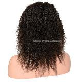 Peluca brasileña del cordón de la textura del pelo liso suave de la Virgen (FDX-YY-KBL)