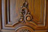 Porta de entrada exterior da madeira contínua da madeira