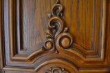 Puerta de entrada exterior de madera sólida de la madera
