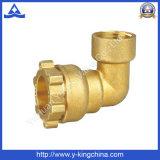 Instalación de tuberías de cobre amarillo de la compresión del acoplador del codo (YD-6052)