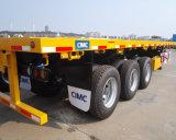 Cimc 40FT Wellen-Behälter-Sattelschlepper des flachen Bett-3