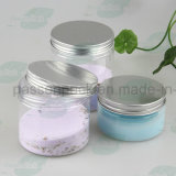 vaso crema cosmetico di plastica rotondo 80g con il coperchio di alluminio