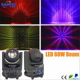 Indicatore luminoso capo mobile chiaro del fascio di effetto LED 60W