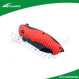 Красным анодированный алюминием нож отделки чернением складывая карманный