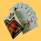 Cartões de jogo de papel de anúncio feitos sob encomenda do póquer