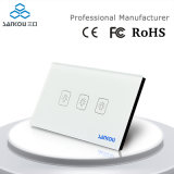 Sankou Cer FCC RoHS 3gang 1way Wall Smart Touch Switch