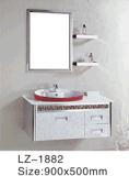 Gabinete de banheiro do dissipador da gaveta da falsificação do aço inoxidável único (LZ-1892)