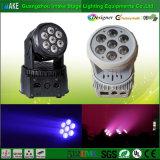 Indicatore luminoso capo mobile della lavata della fabbrica 7PCS*10W LED di Guangzhou mini